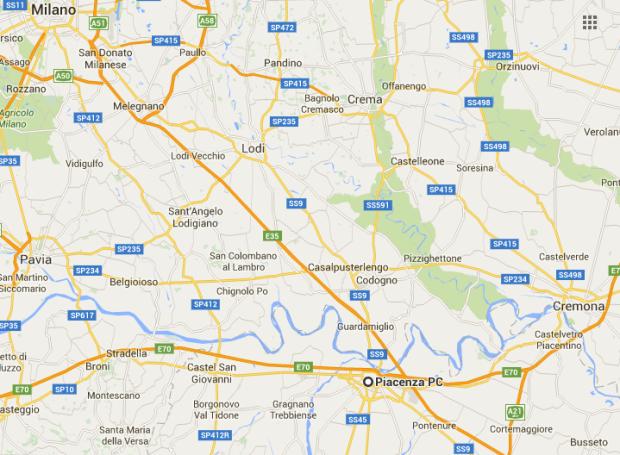 Piacenza Mappa