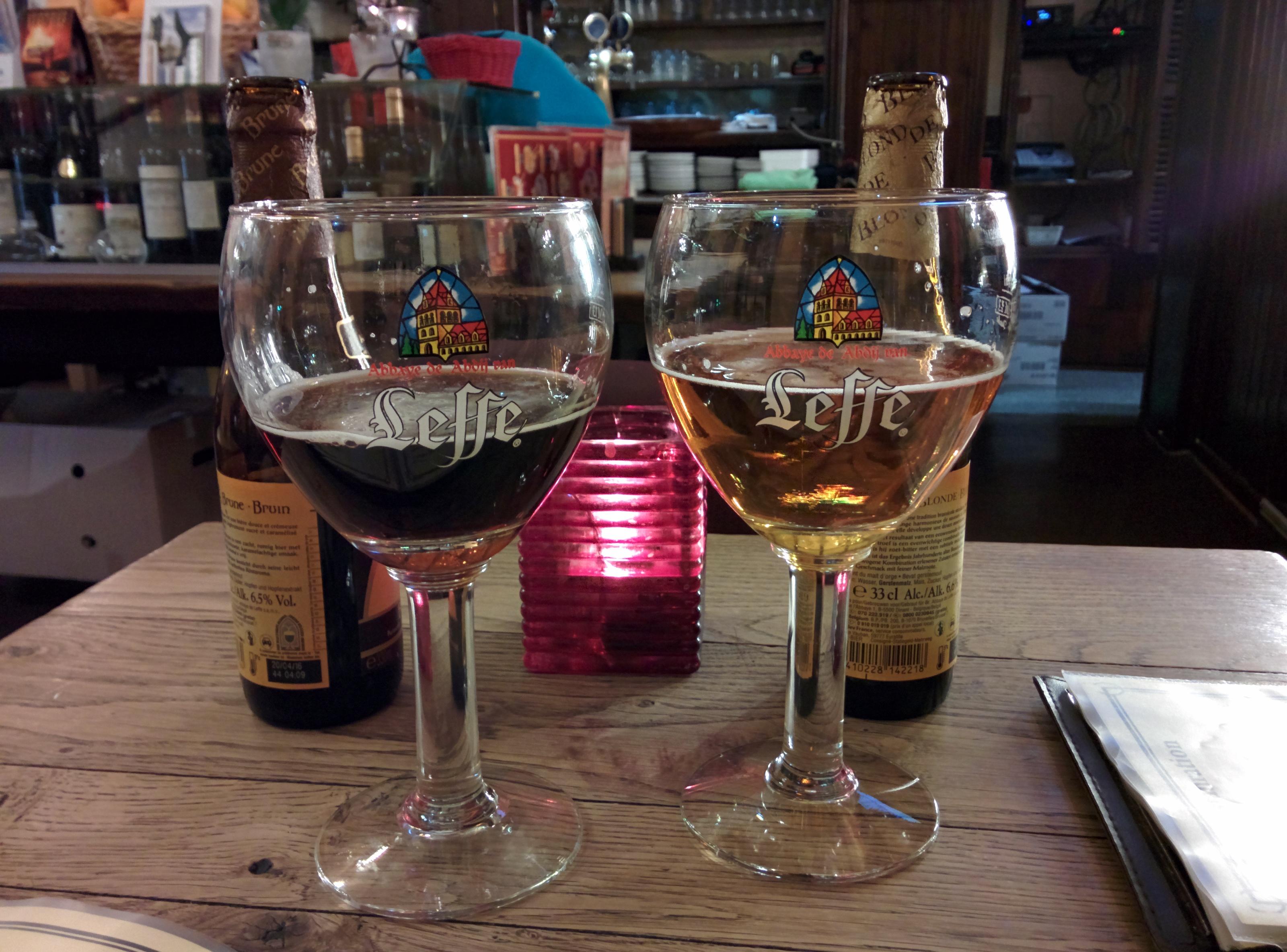 Leffe birra belga Bruxelles