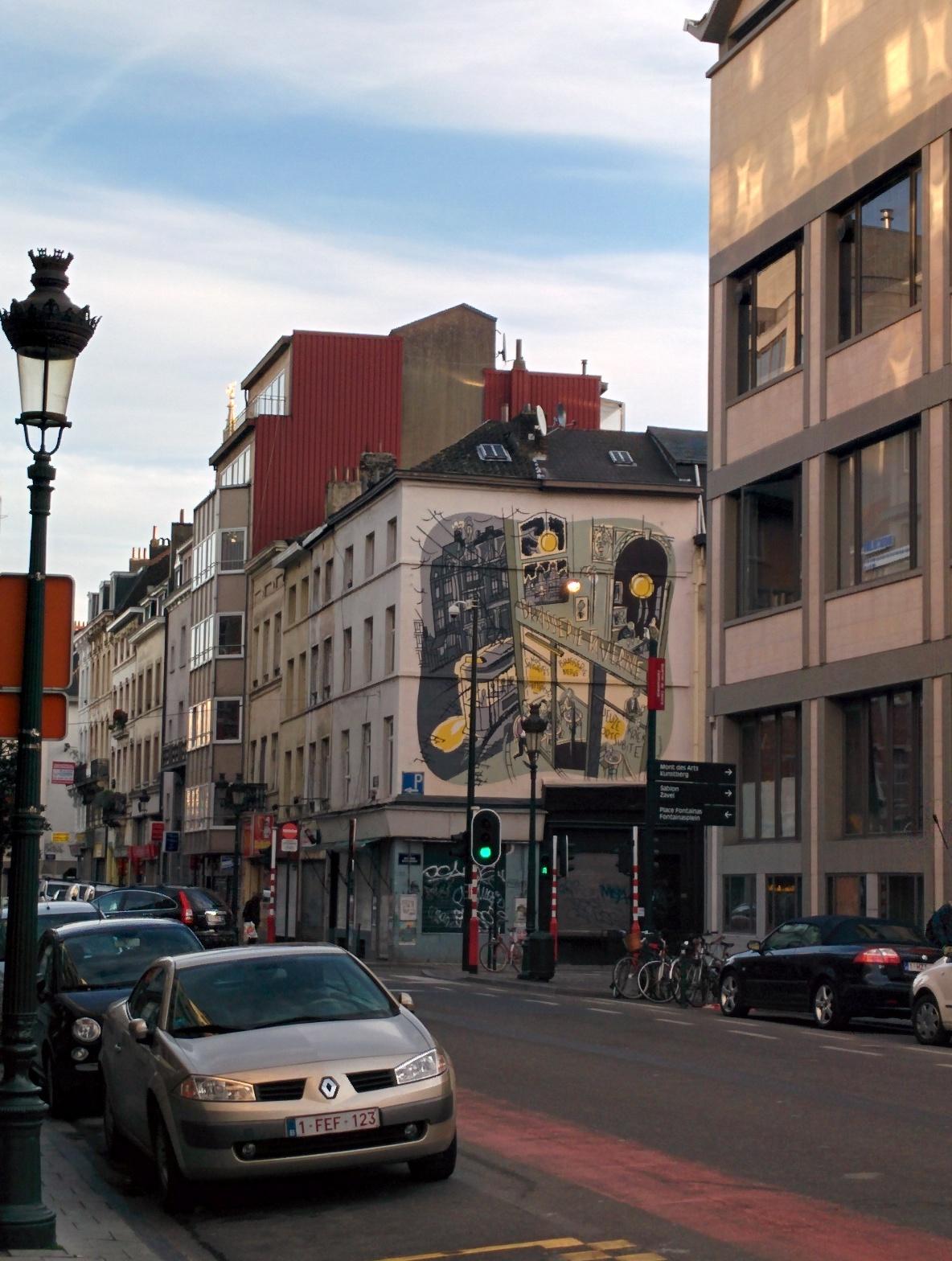 Murales fumetti Bruxelles strada
