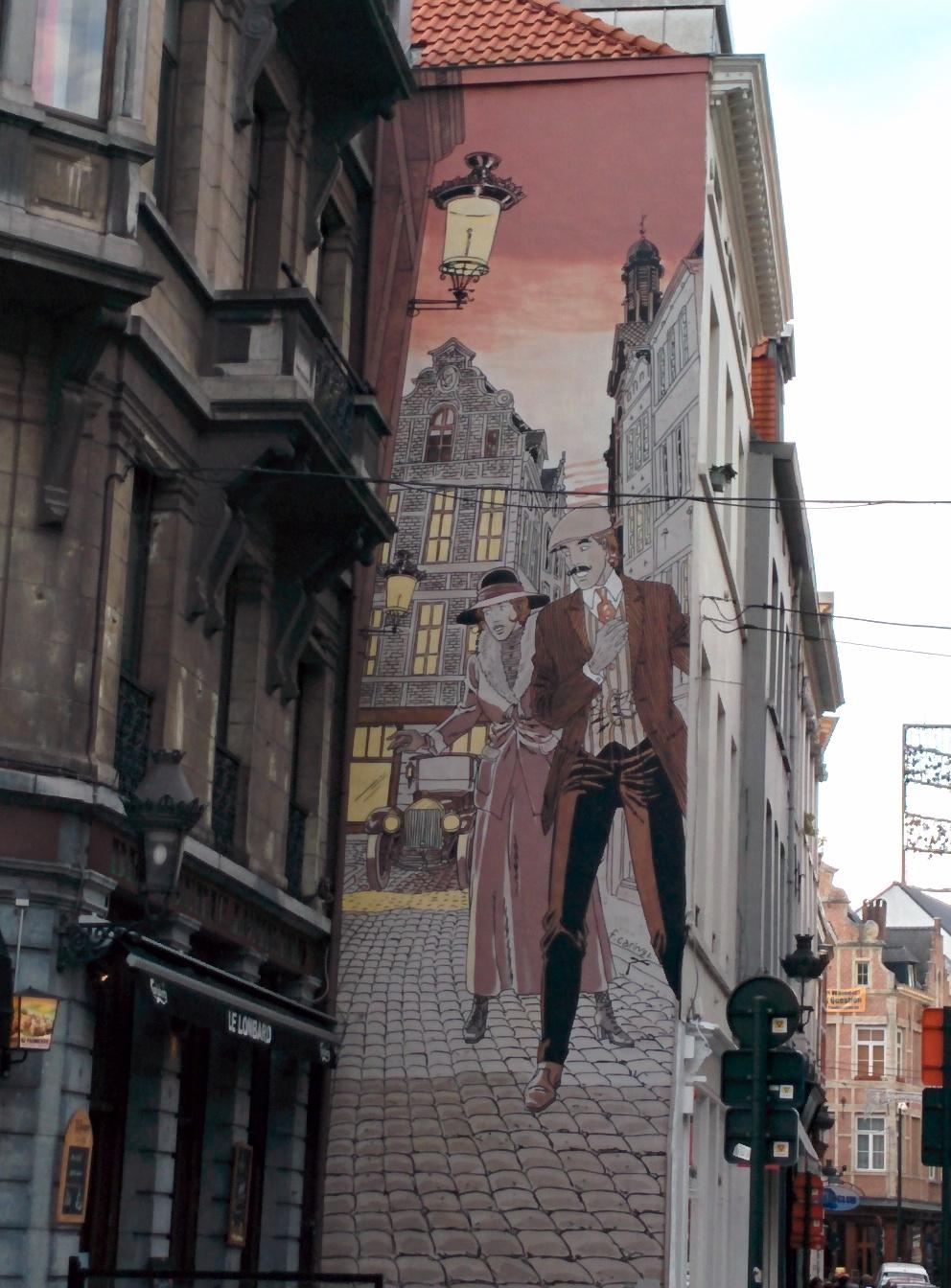 Murales coppia passato Bruxelles