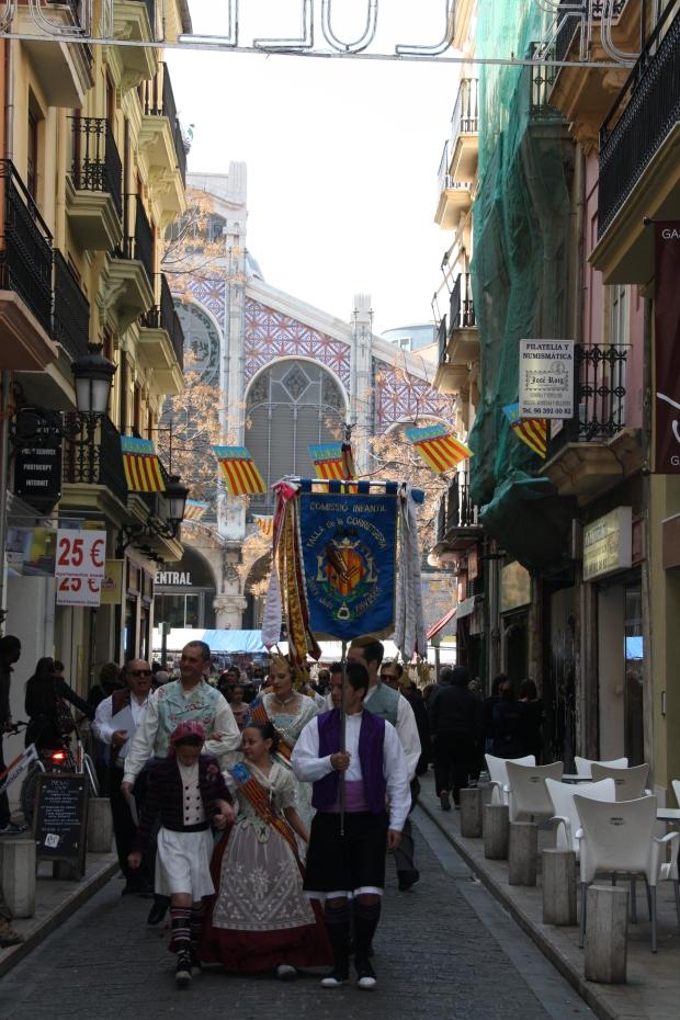 fallas ofrenda Valencia