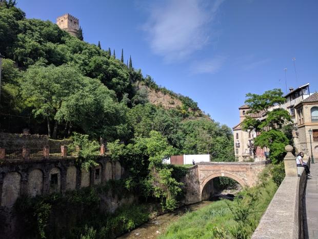 Passeggiata lungo il fiume Darro, Granada