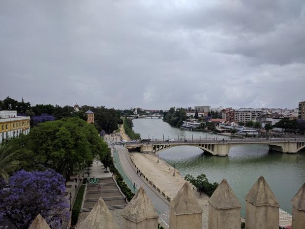Vista sul Guadalquivir dalla Torre de Oro di Siviglia