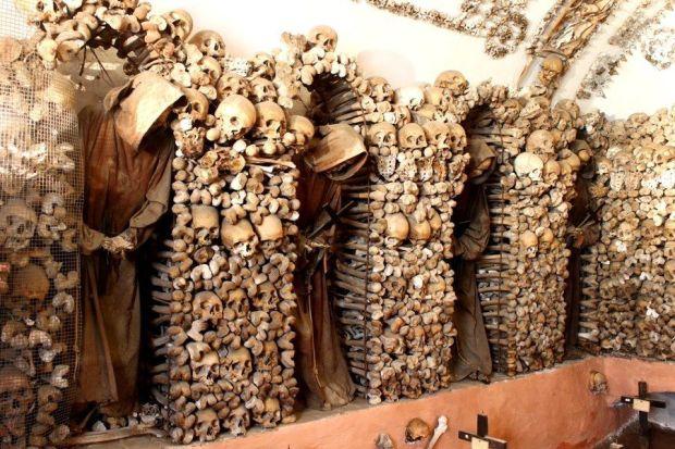Cripta con ossa Frati Cappuccini Roma