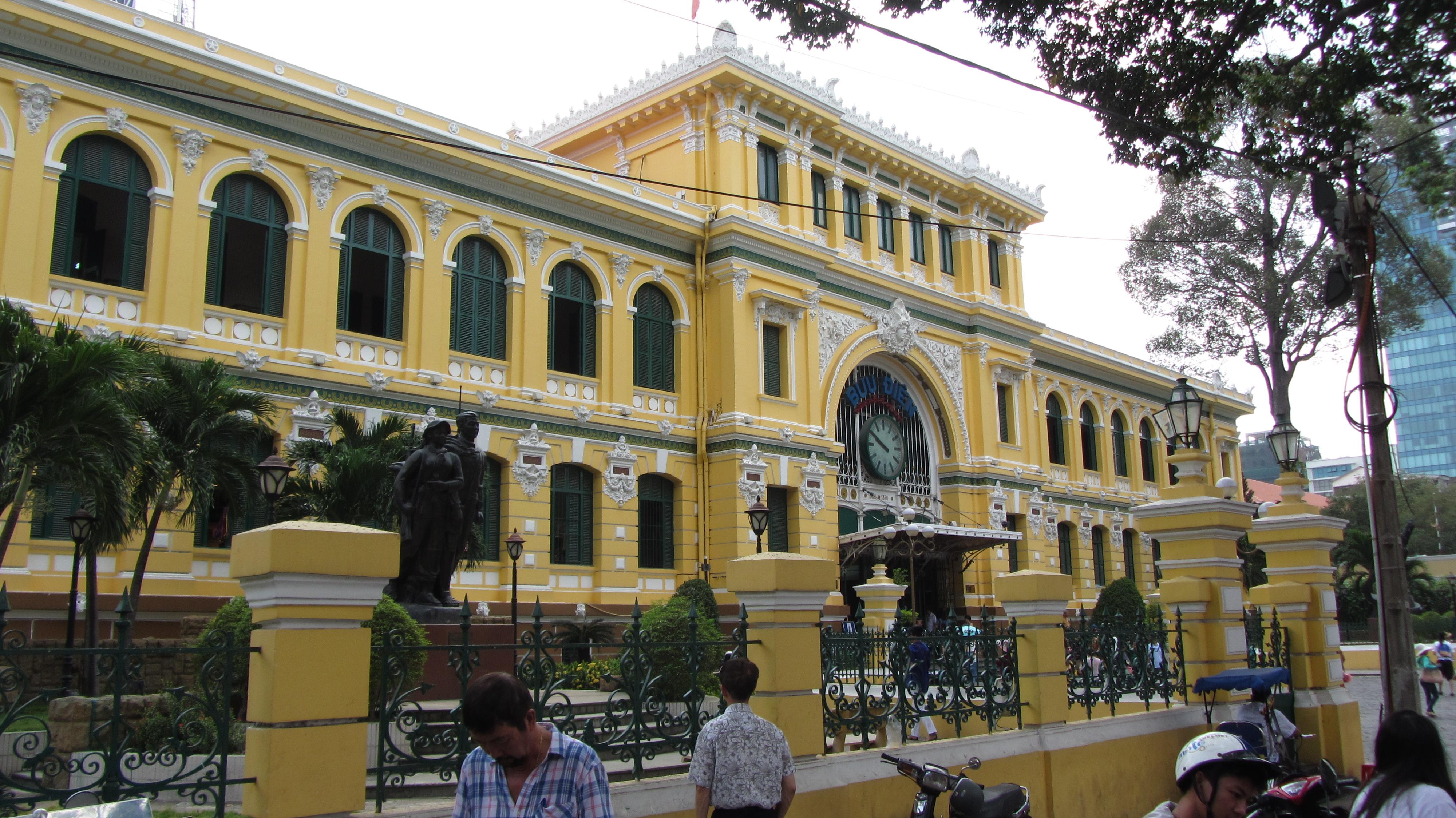 Ufficio postale centrale esterno Seigon vietnam