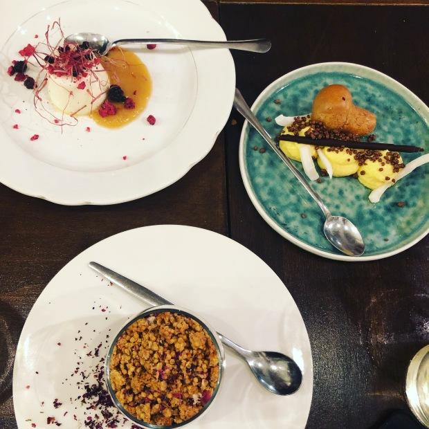 Tris di dessert al Rabarbaro