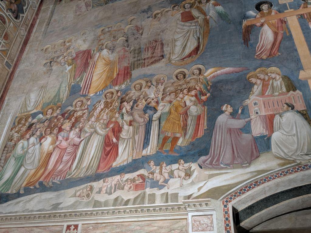 Dettaglio dipinti di Giotto