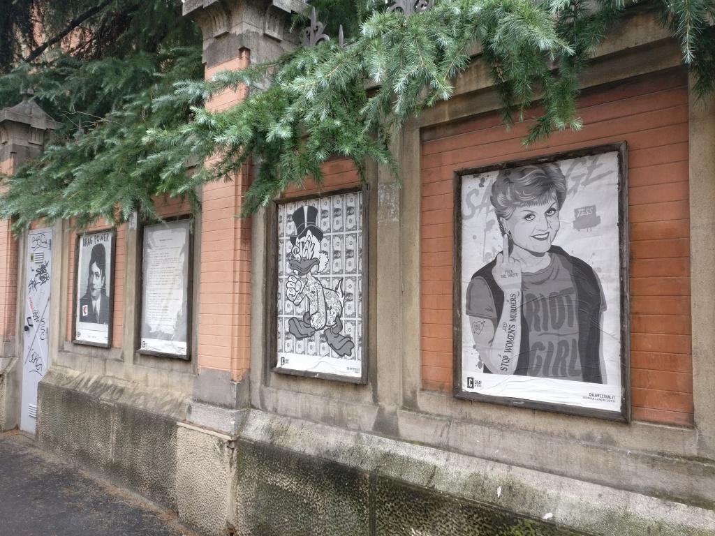 Zona universitaria Bologna, posters e murales